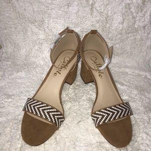 Callisto Of California chunky strappy heels